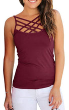 Load image into Gallery viewer, Criss Cross Cami Top, 3 Asst.