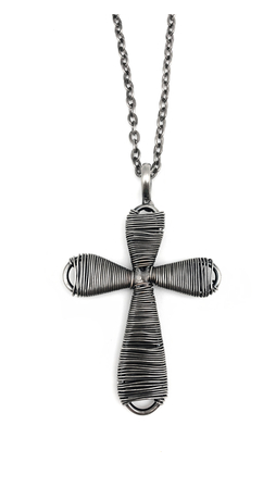 Basketweave Cross Necklace