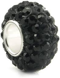 Sparkle Bead Black Charm