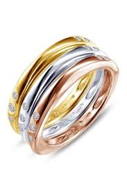 Tri-Tone Stacking Rings