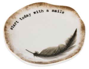 Live a Happy Life Trinket Dishes
