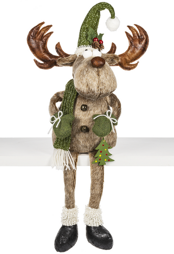 Large Merry Chris-Moose Figurine