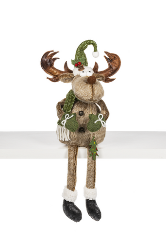 Small Merry Chris-Moose Figurine