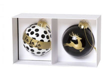 Load image into Gallery viewer, Glass Enamel Ornament Set/2