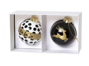 Glass Enamel Ornament Set/2