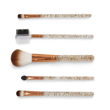 Load image into Gallery viewer, 5 PC Glitter Handle Brush Set in Reusable Storage Tube