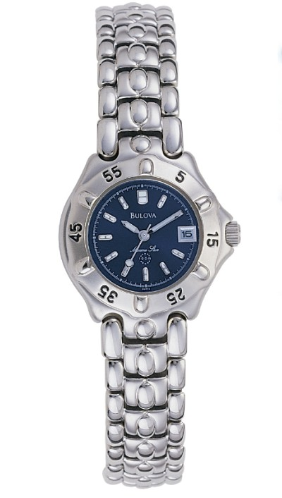 Silver and Blue Men's Watch (Model: 96M12)