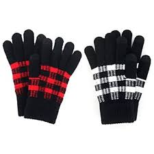 Buffalo Plaid Gloves, 2 Asst.