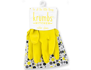 Yellow Polka Dot Kitchen Gloves