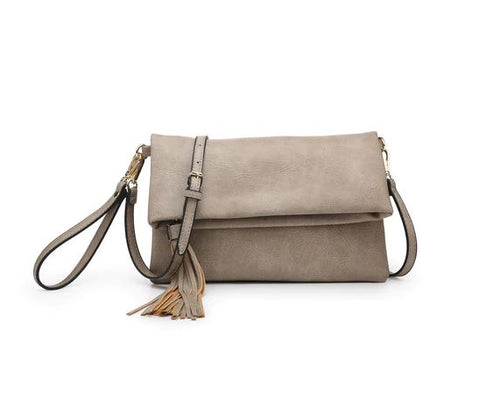 Austin Crossbody in Light Stone
