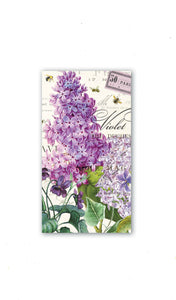 lilac And Violets Hostess Napkins-15 Count