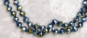 Double Wrap Beaded Necklace, 10 Asst.