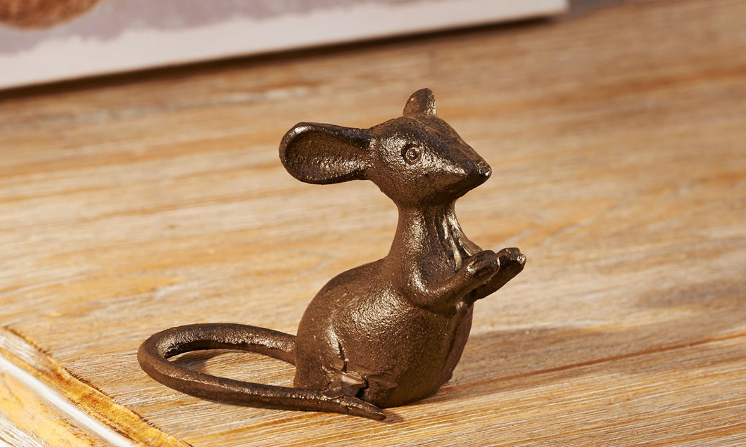 Sitting Mouse Figurine