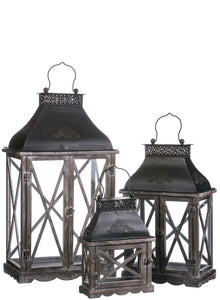 Large Black Lantern With Doors