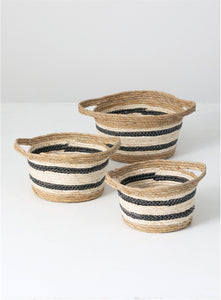 Seagrass Baskets 3 Asst