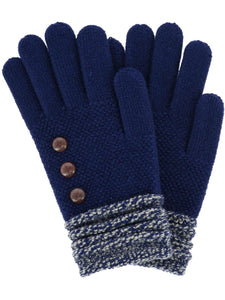 Classic Knit Gloves, 6 Asst.