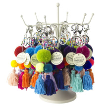 Load image into Gallery viewer, Pom Pom Keychains, 6 Asst.
