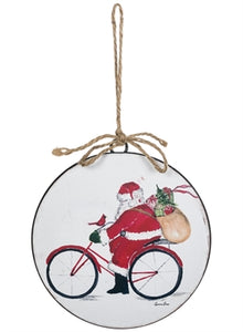 Santa Bike Ornament