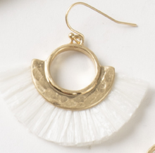 Load image into Gallery viewer, Paradise Raffia Earrings, 4 Asst.