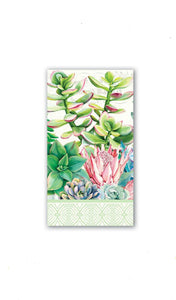 Pink Cactus Paper Hostess Napkins-15 Count