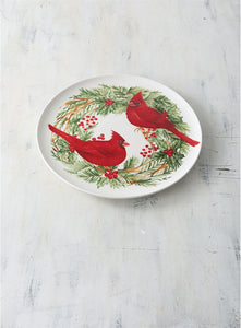 "12"" Cottage Garden Christmas Ceramic Platter"