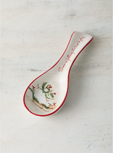 Snowman Family Spoon Rest