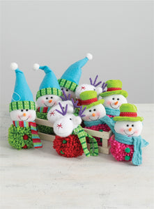 Snowman and Reindeer Ornaments