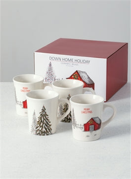 Down Home Holiday Mugs