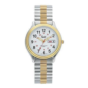 Two Tone Men's Railroad Watch Collection With Twist-O-Flex Bands Model 60333916