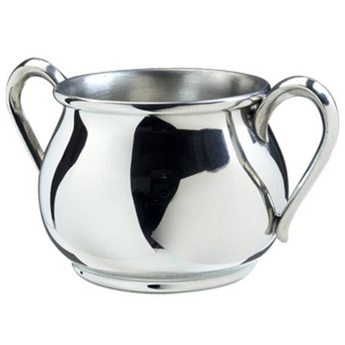 Double Handle Pewter Baby Cup