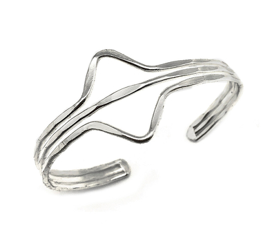 Triangles Silver Cuff Bracelet