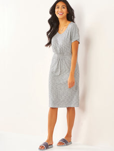 Stripe Sleepwear Dress