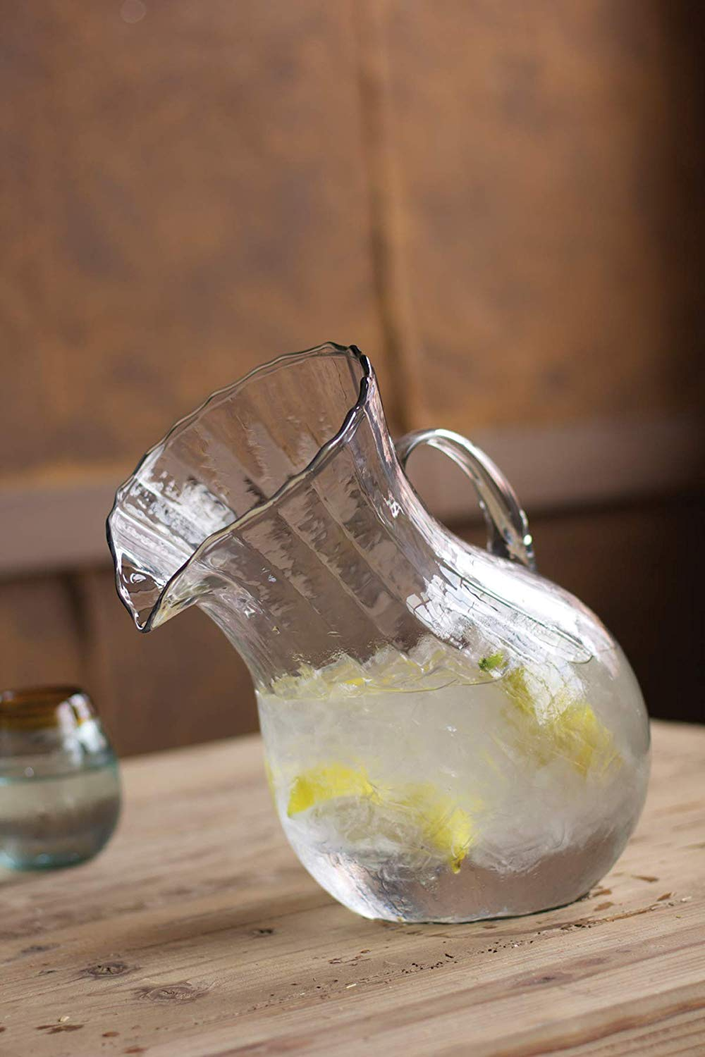 Tilted Glass Pitcher