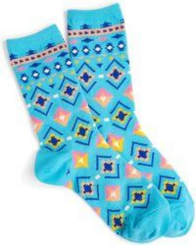 Light Aqua Hacienda Crew Sock