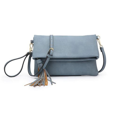 Austin Crossbody in Washed Denim
