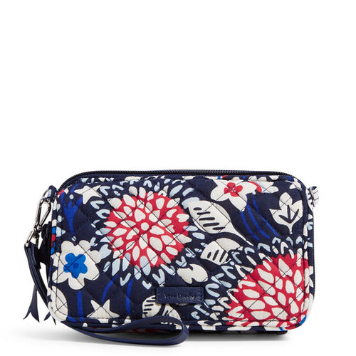 RFID All in one Crossbody Red, White & Blossoms
