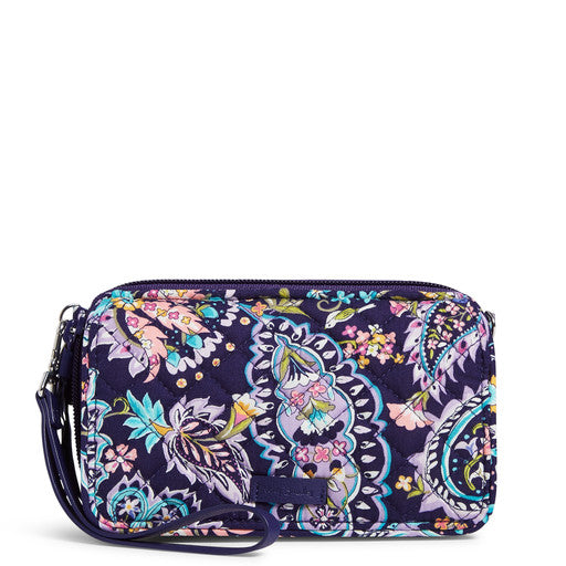 RFID All in One Crossbody in French Paisley
