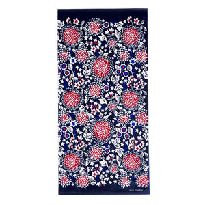 Vera Bradley Beach Towel Red, White, and Blossoms