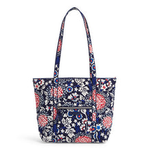 Load image into Gallery viewer, Vera Bradley Red, White, and Blossoms Small Vera Tote