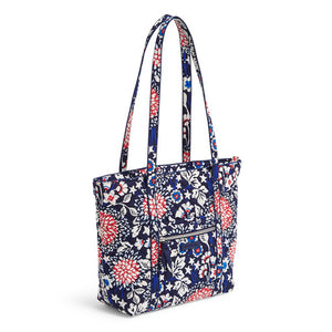 Vera Bradley Red, White, and Blossoms Small Vera Tote