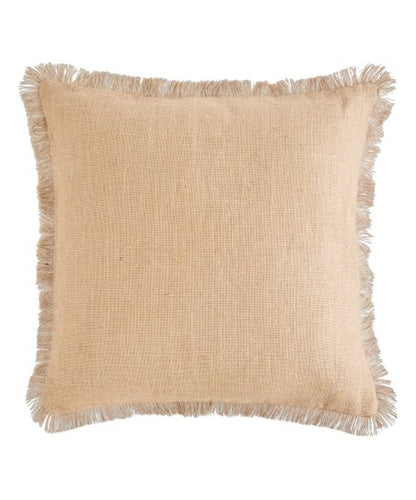 Tan Jute Pillow