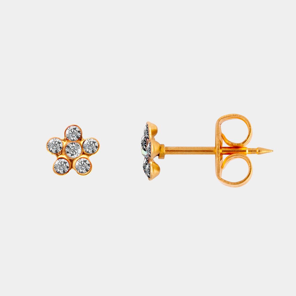 Studex Crystal Daisy 24k Gold Stud