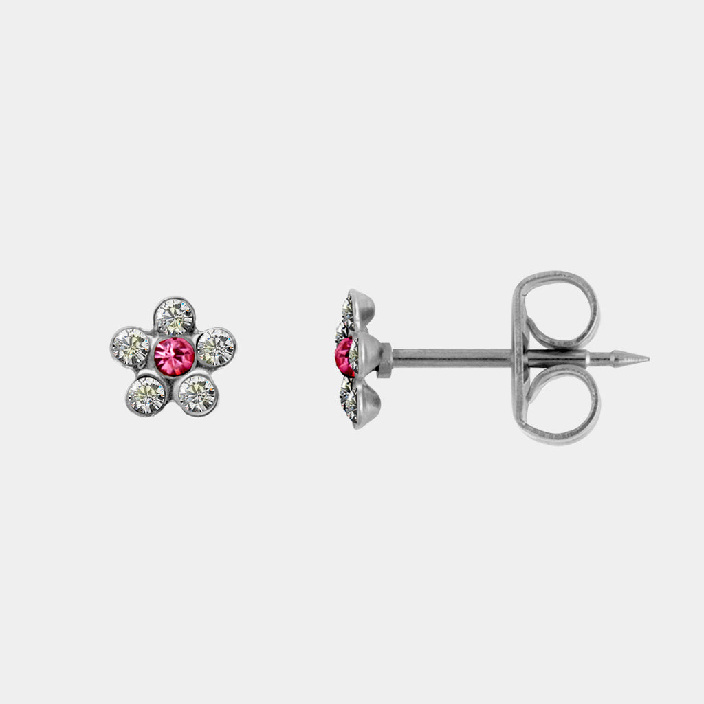 Studex Crystal Rose Daisy Surgical Steel Stud
