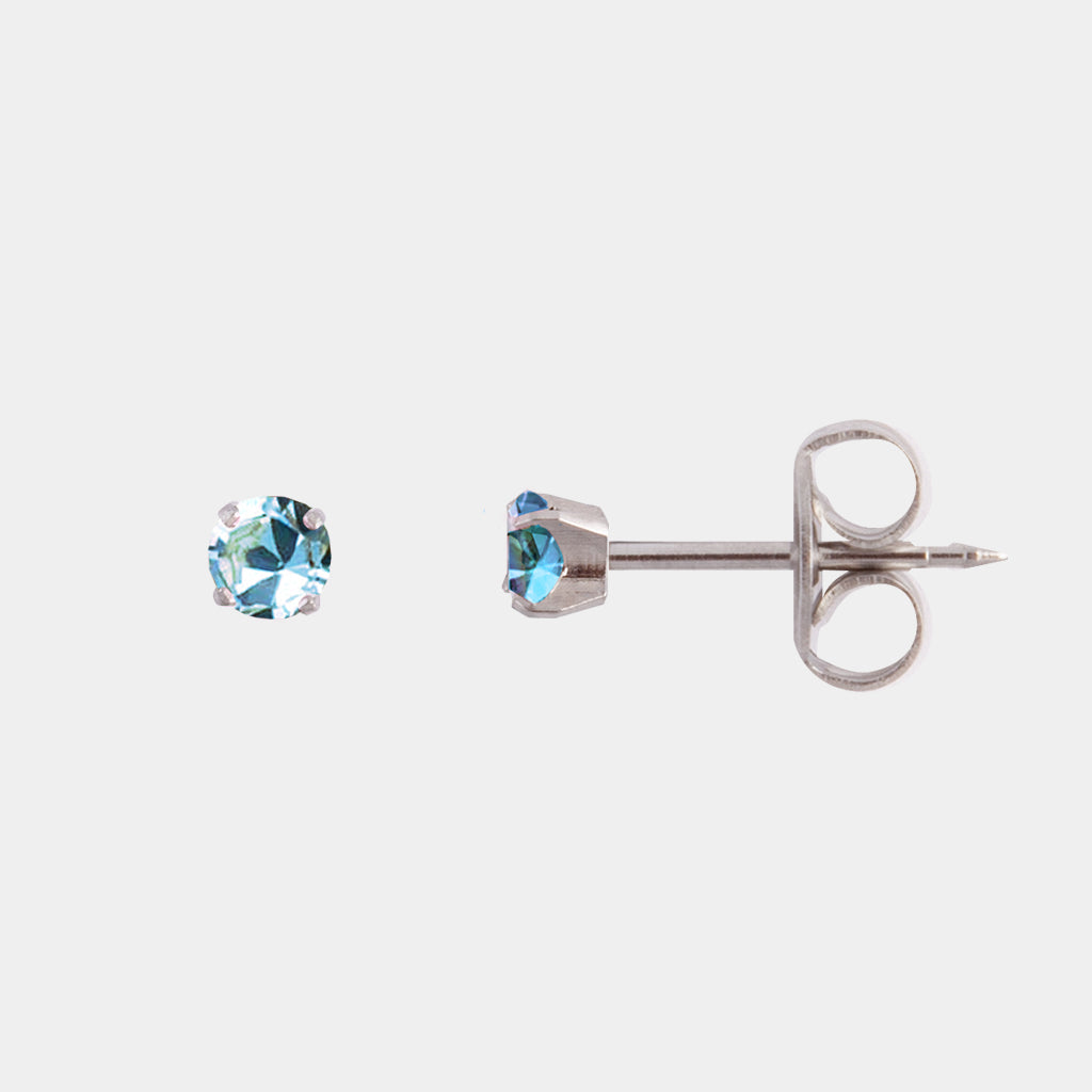 Studex 3mm Blue Crystal Surgical Steel Stud