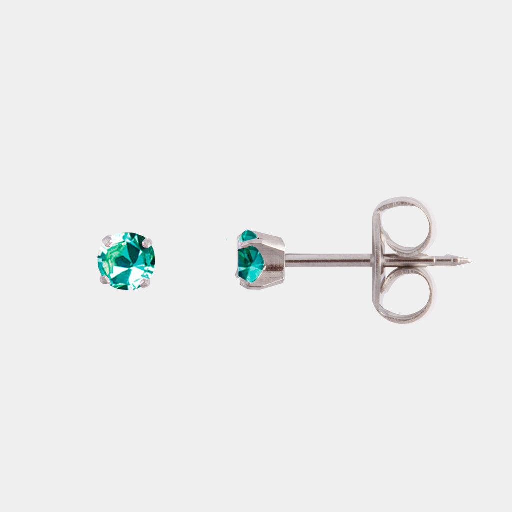Studex 3mm Blue Zircon Crystal Surgical Steel Stud