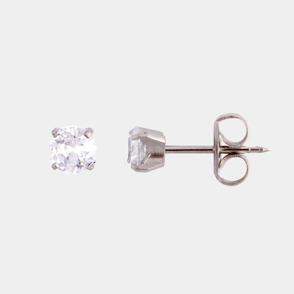 Studex 5mm Cubic Zirconia Surgical Steel Stud