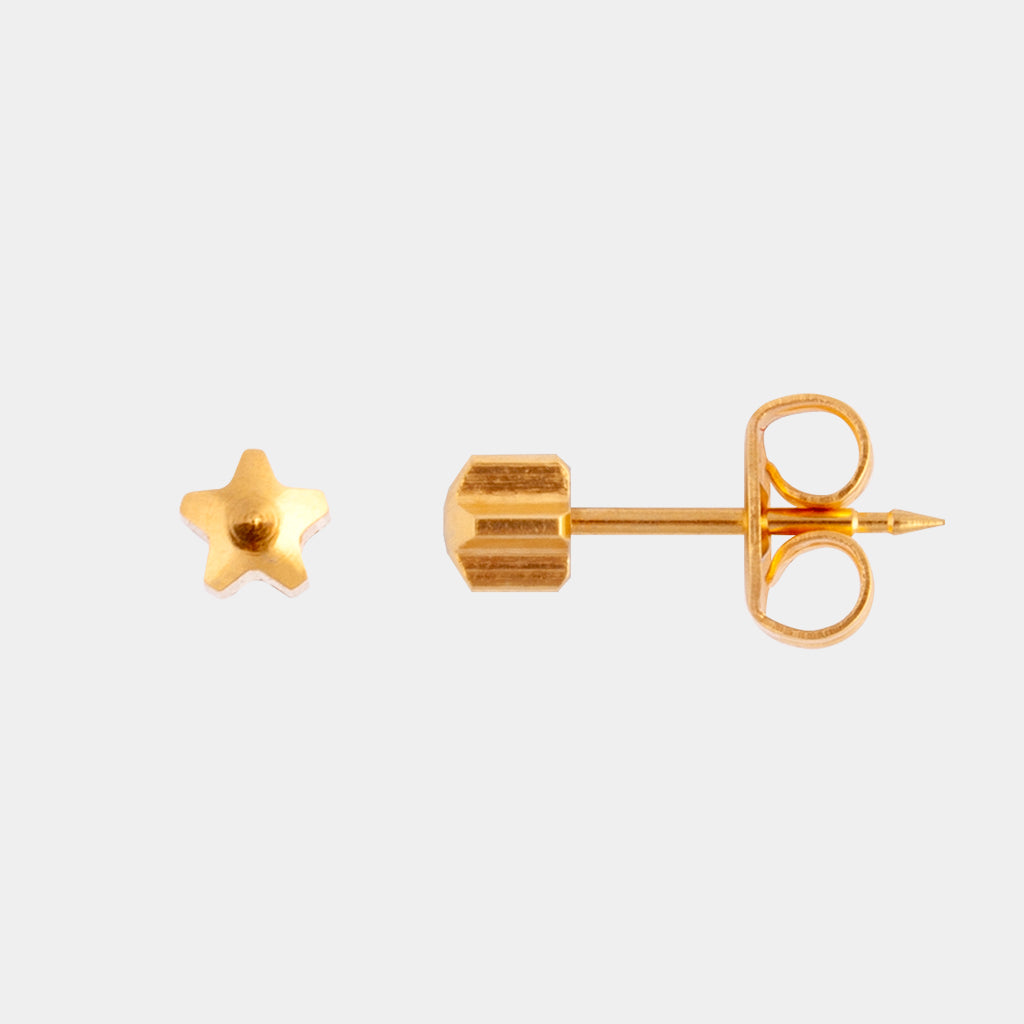 Studex 4mm Star 24K Pale Gold Stud