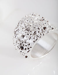 Silver Crater Fashion Ring - link has visual effect only