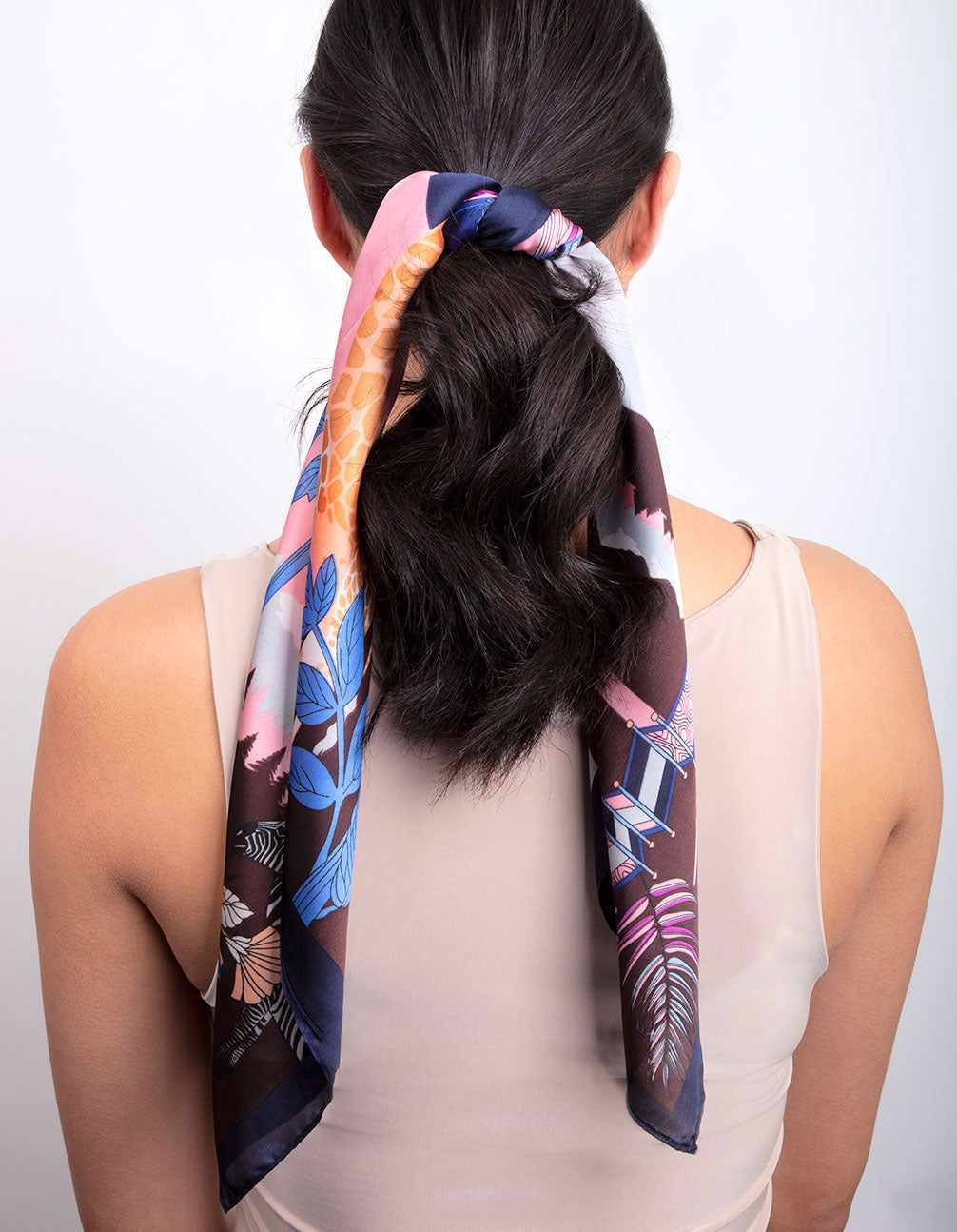 Purple Sunset Safari Scarf
