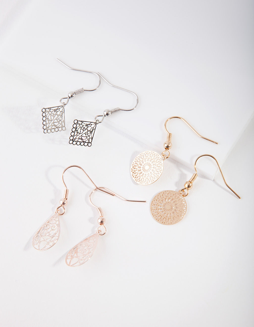 Mixed Metal Filigree Earring Pack